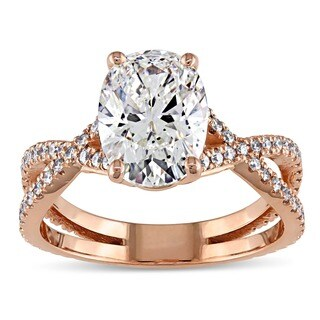 Miadora Signature Collection 18k Rose Gold 2 3/4ct TDW Certified Oval Diamond Engagement Ring