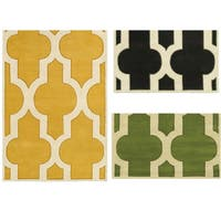 Rizzy Home Volare Collection Hand-tufted Ikat Wool Grey/ Green/ Gold Rug - 8' x 10'