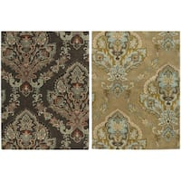 Rizzy Home Volare Collection Hand-tufted Trellis Wool Brown Rug - 9' x 12'