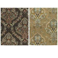 Rizzy Home Volare Collection Hand-tufted Trellis Wool Brown Rug (5' x 8') - 5' x 8'