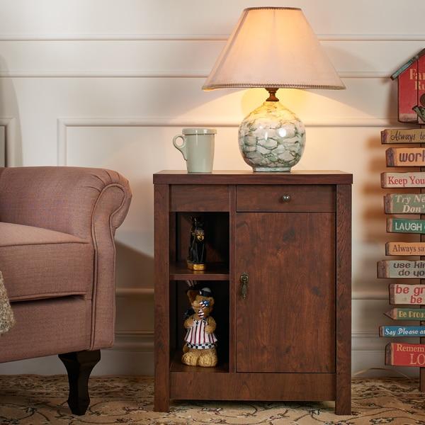 Furniture of America Russell Vintage Walnut Multi Storage