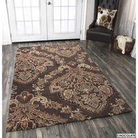 Rizzy Home Volare Collection Hand-tufted Trellis Wool Brown Rug - 3' x 5'