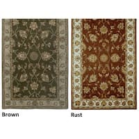 Rizzy Home Volare Collection Hand-tufted Geometric Design Wool Rust/ Brown Rug (5' x 8') - 5' x 8'