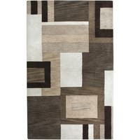 Rizzy Home Volare Collection Hand-tufted Geometric Wool Brown/ Beige Rug (9' x 12')