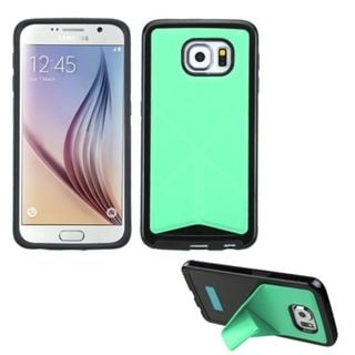 Insten Slim TPU Rubber Candy Skin Phone Case Cover with Stand For Samsung Galaxy S6