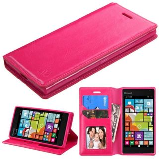 Insten Leather Wallet Flap Pouch Phone Case Cover with Stand/ Photo Display For Nokia Lumia 730/ 735