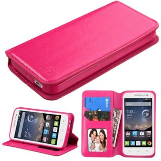 Insten Leather Wallet Flap Pouch Phone Case Cover with Stand/ Photo Display For Alcatel One Touch Pop Astro