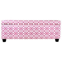 The Sole Secret Noah Blush Button Tufted Shoe Storage Bench