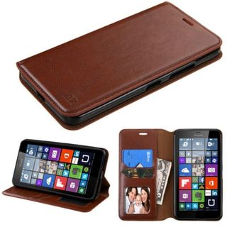 Insten Leather Wallet Flap Pouch Phone Case Cover with Stand/ Photo Display For Microsoft Lumia 640 XL