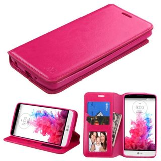 Insten Slim Leather Wallet Flap Pouch Phone Case Cover with Stand/ Photo Display For LG G3 Stylus