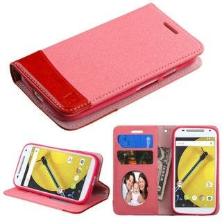 Insten Leather Wallet Flap Pouch Phone Case Cover with Stand/ Photo Display For Motorola Moto E 2nd Gen|https://ak1.ostkcdn.com/images/products/10362374/P17469860.jpg?impolicy=medium