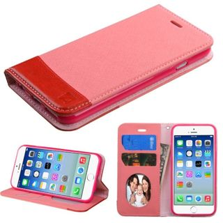 INSTEN Slim Leather Wallet Flap Pouch Phone Case with Stand/ Photo Display for Apple iPhone 6