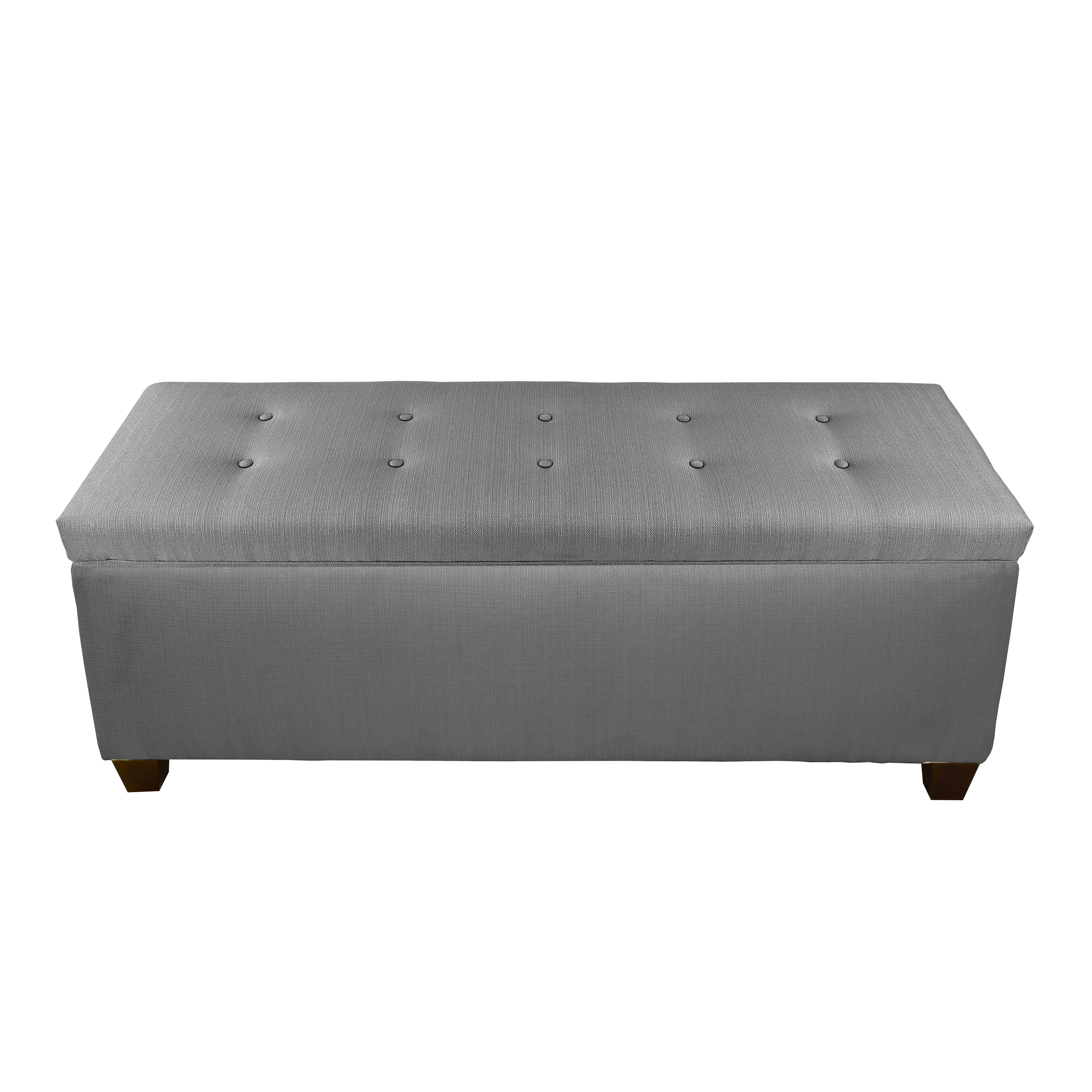 brooke garden today product home gray storage button long shipping free overstock tufted bench ottoman