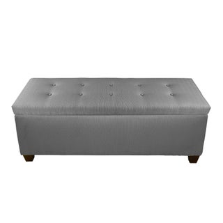 The Sole Secret Dark Grey Button Tufted Shoe Storage Bench (2 options available)