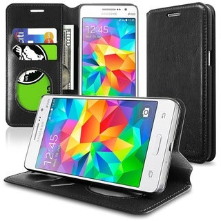 Insten Slim Leather Wallet Flap Pouch Phone Case Cover with Stand For Samsung Galaxy Grand Prime