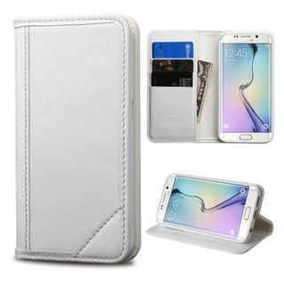 Insten Slim Leather Wallet Flap Pouch Phone Case Cover with Stand For Samsung Galaxy S6 Edge