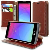 Insten Slim Leather Wallet Flap Pouch Phone Case Cover with Stand For LG Leon