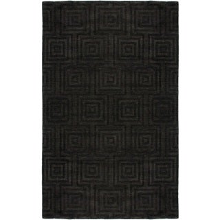 Rizzy Home Uptown Collection Handmade Solid-colored Wool Grey Rug (9' x 12')