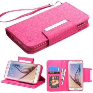 Insten Leather Wallet Flap Pouch Phone Case Cover with Stand/ Lanyard/ Photo Display For Samsung Galaxy S6