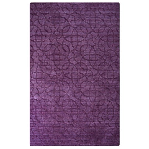 Rizzy Home Uptown Collection Handmade Solid Wool Purple Rug (8' x 10') - 8' x 10'