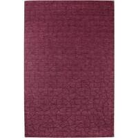 Rizzy Home Uptown Collection Handmade Solid Wool Red Rug - 10' x 14'