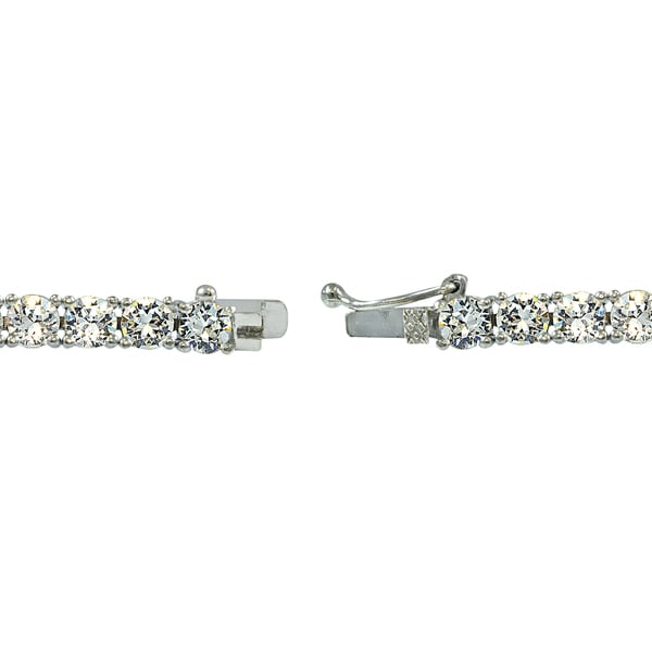 Crystal Ice Sterling Silver 3mm Swarovski Elements Classic Tennis ...