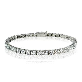 Crystal Ice Sterling Silver 3mm Swarovski Elements Classic Tennis Bracelet