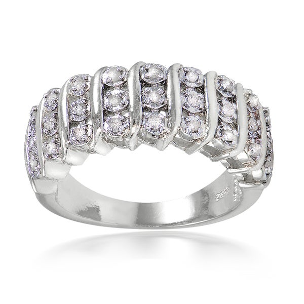 DB Designs 1/4ct TDW Diamond S Design Ring
