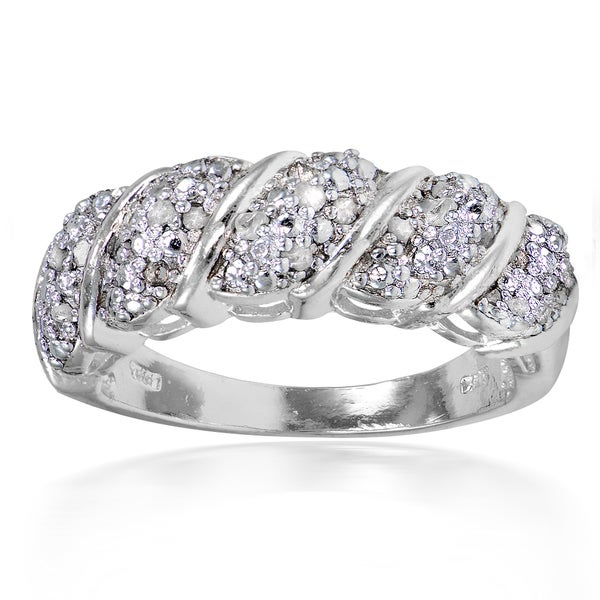 Shop DB Designs 1 4ct TDW Diamond Wave Design Ring On Sale Free
