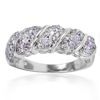 DB Designs 1/4ct TDW Diamond Wave Design Ring