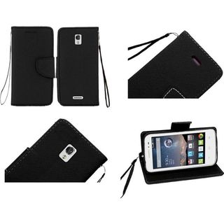 Insten Leather Wallet Flap Pouch Phone Case Cover with Stand/ Lanyard For Alcatel One Touch Pop Astro