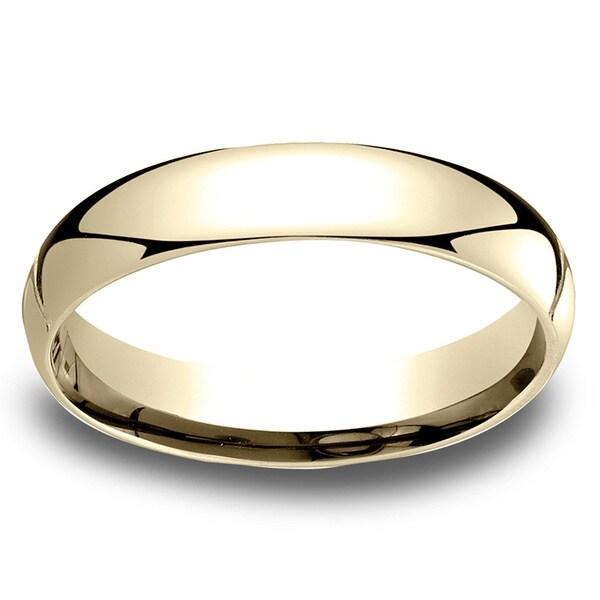 18k Yellow Gold Men X27 S 4mm Comfort Fit Wedding Band