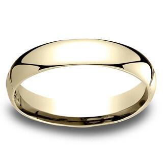 18k Yellow Gold Men's 4mm Comfort-Fit Wedding Band - 18K Yellow Gold