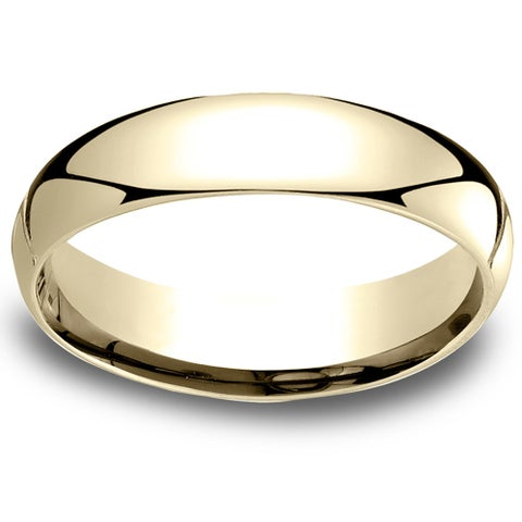 18k Yellow Gold Men's 5mm Comfort-Fit Wedding Band - 18K Yellow Gold