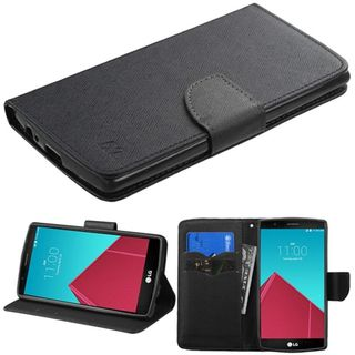 Insten Slim Leather Wallet Flap Pouch Phone Case Cover with Stand For LG G4