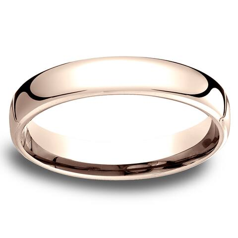 14k Rose Gold Low-dome 4.5mm Comfort-Fit Wedding Band - 14K Rose Gold - 14K Rose Gold