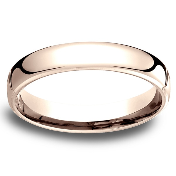 14k Rose Gold Low-dome 4.5mm Comfort-Fit Wedding Band - 14K Rose Gold - 14K Rose Gold. Opens flyout.
