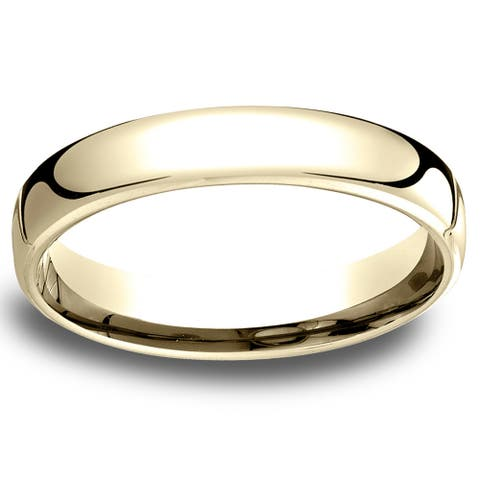14k Yellow Gold Low-dome 4.5mm Comfort-Fit Wedding Band - 14k Yellow Gold - 14k Yellow Gold