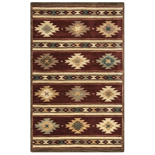 Rizzy Home Southwest Collection Hand Crafted Geometric