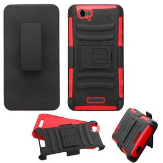 Insten Slim Hard PC/ Soft Silicone Dual Layer Hybrid Phone Case Cover with Holster For BLU Studio Energy