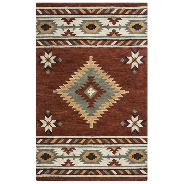 Shop Rizzy Home Southwest Collection Hand Tufted Geometric