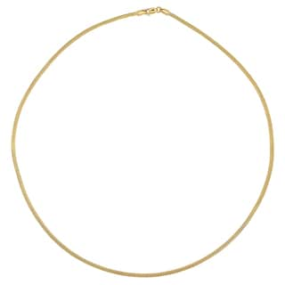 Fremada 14k Yellow Gold Round Mesh Necklace (18 inches)