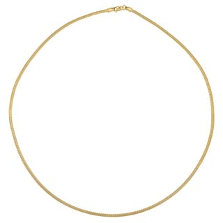Fremada 14k Yellow Gold Round Mesh Necklace 18 Inches