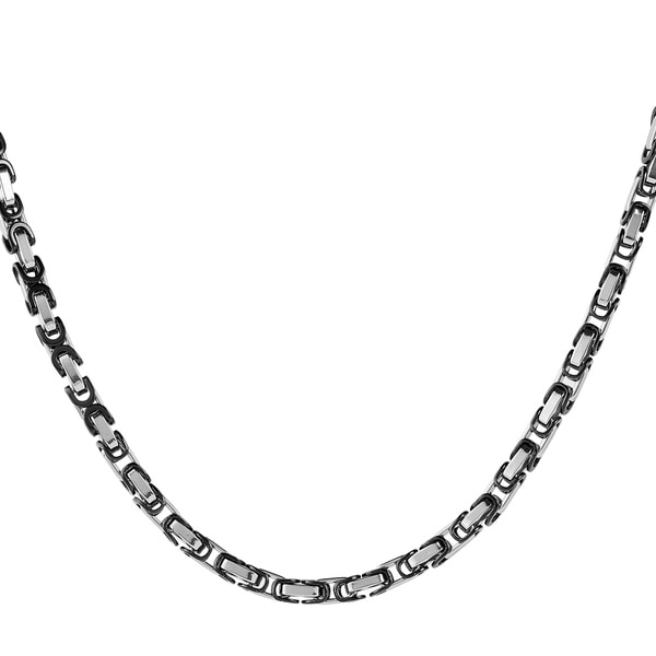 Crucible Stainless Steel Byzantine Chain Necklace (5mm) - 24 Inches