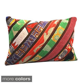 Handmade Vintage Stripe Lumbar Pillows (India)