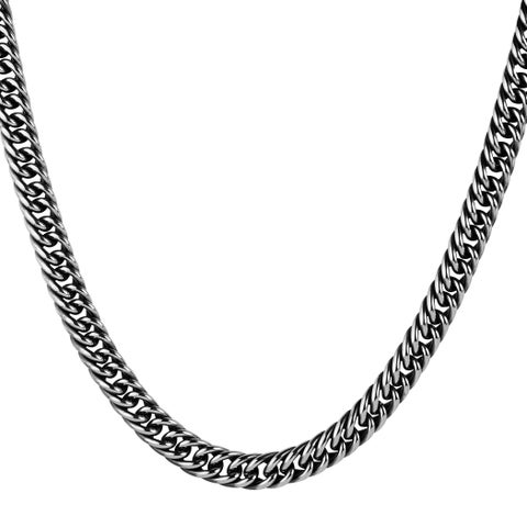 Crucible Stainless Steel Antiqued Curb Link Chain