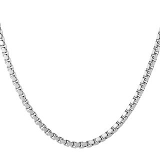 Men's Stainless Steel 24-inch Box Chain Necklace