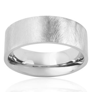 Crucible Men's Meteorite Finish Stainless Steel Ring