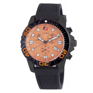 Calibre Akron Mens Orange Dial Watch