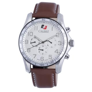 Calibre Buffalo Mens Silver Dial Watch|https://ak1.ostkcdn.com/images/products/10362822/P17470380.jpg?impolicy=medium